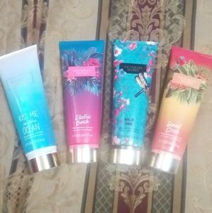 4 Brand New Victoria's Secret Fragrance Lotions